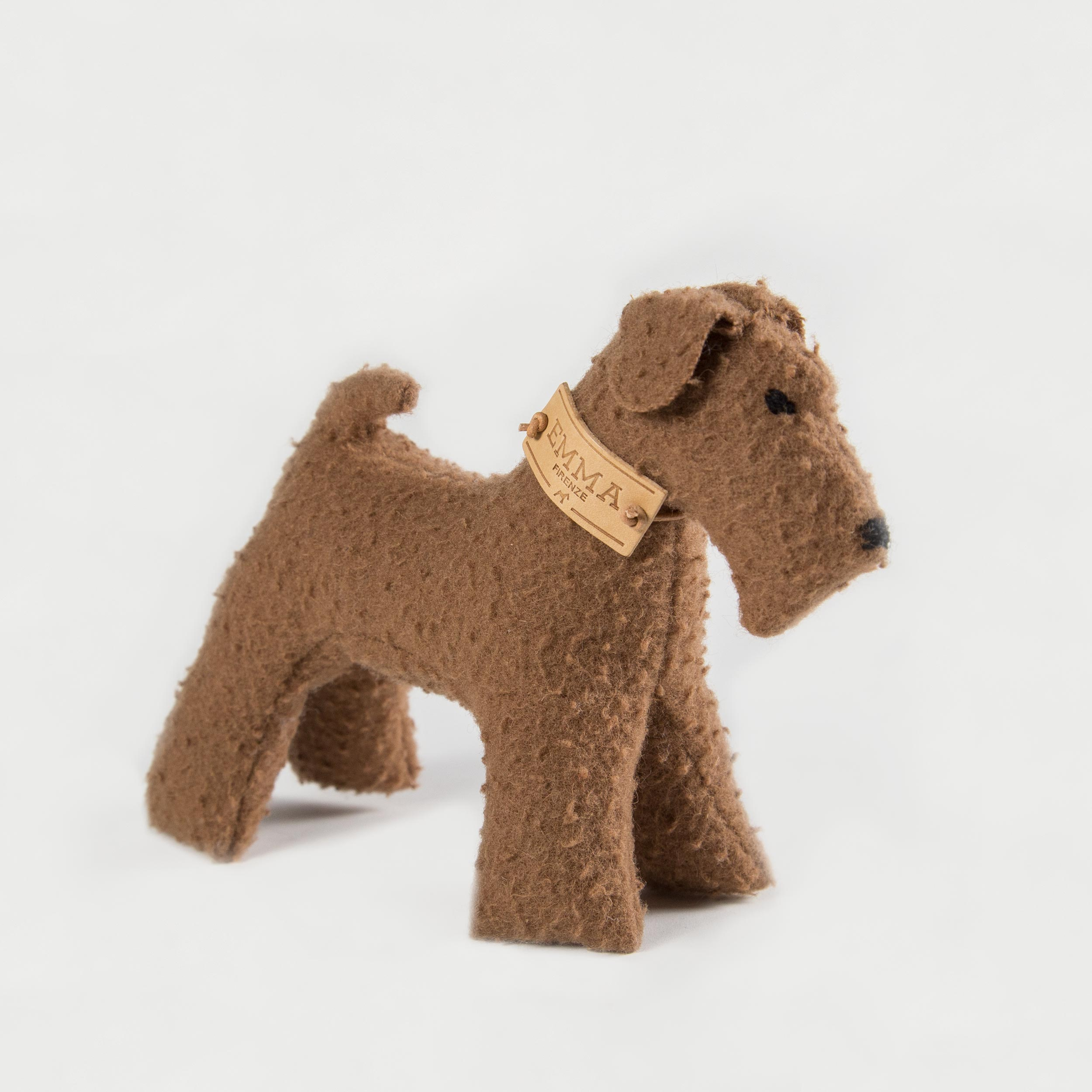 gift toy in brown casentino fabric