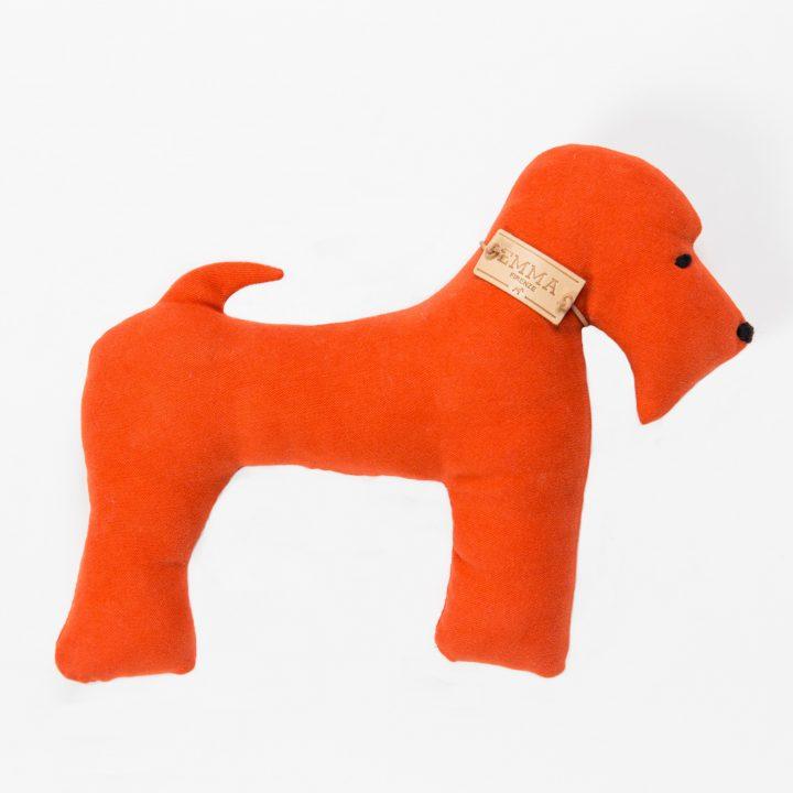 gift toy in orange moleskin fabric
