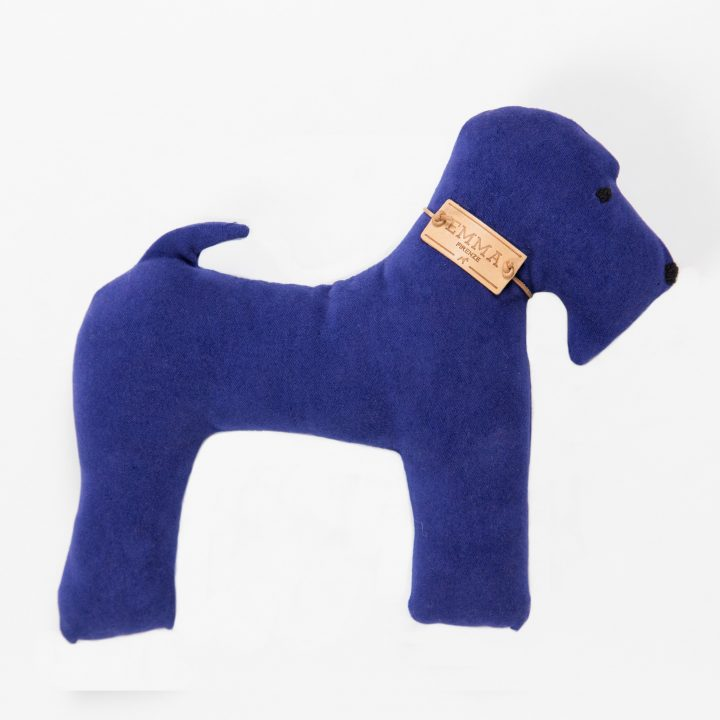 gift toy in blue moleskin fabric