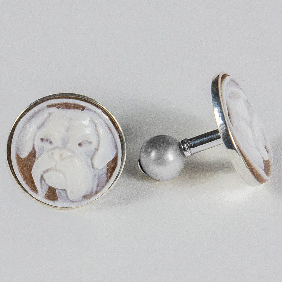 gemelli in argento con cammei personalizzati