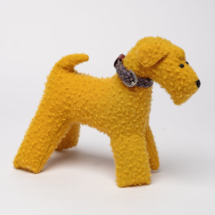 gift toy in yellow casentino fabric