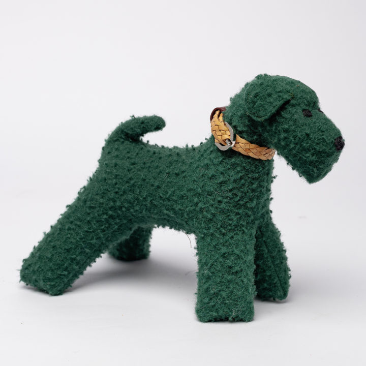 gift toy in green casentino fabric
