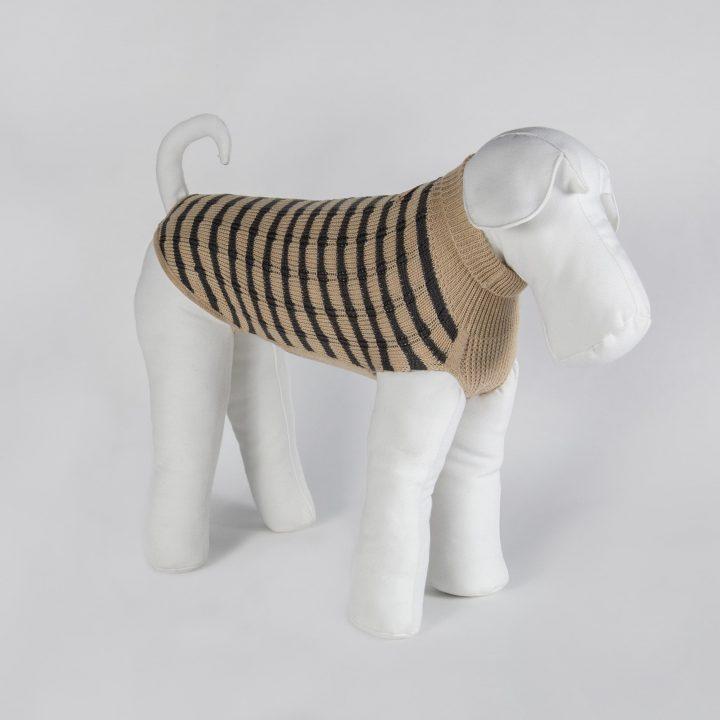abbigliamento maglia per cani su misura in lana reversibile