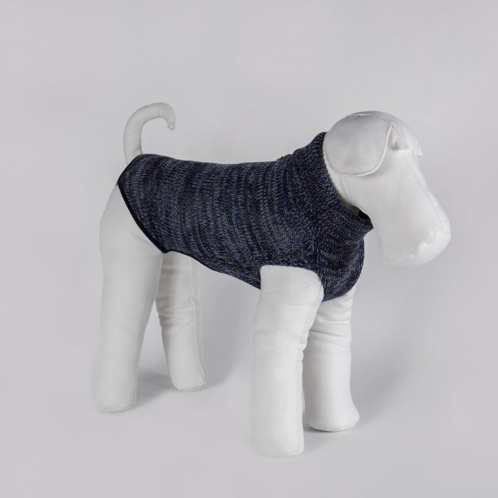 pure wool bespoke sweater for dogs in a blending of colors
