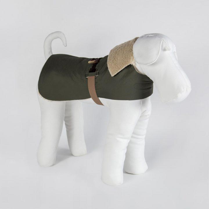 cappotto impermeabile per cani double-face su misura in eco-pelliccia