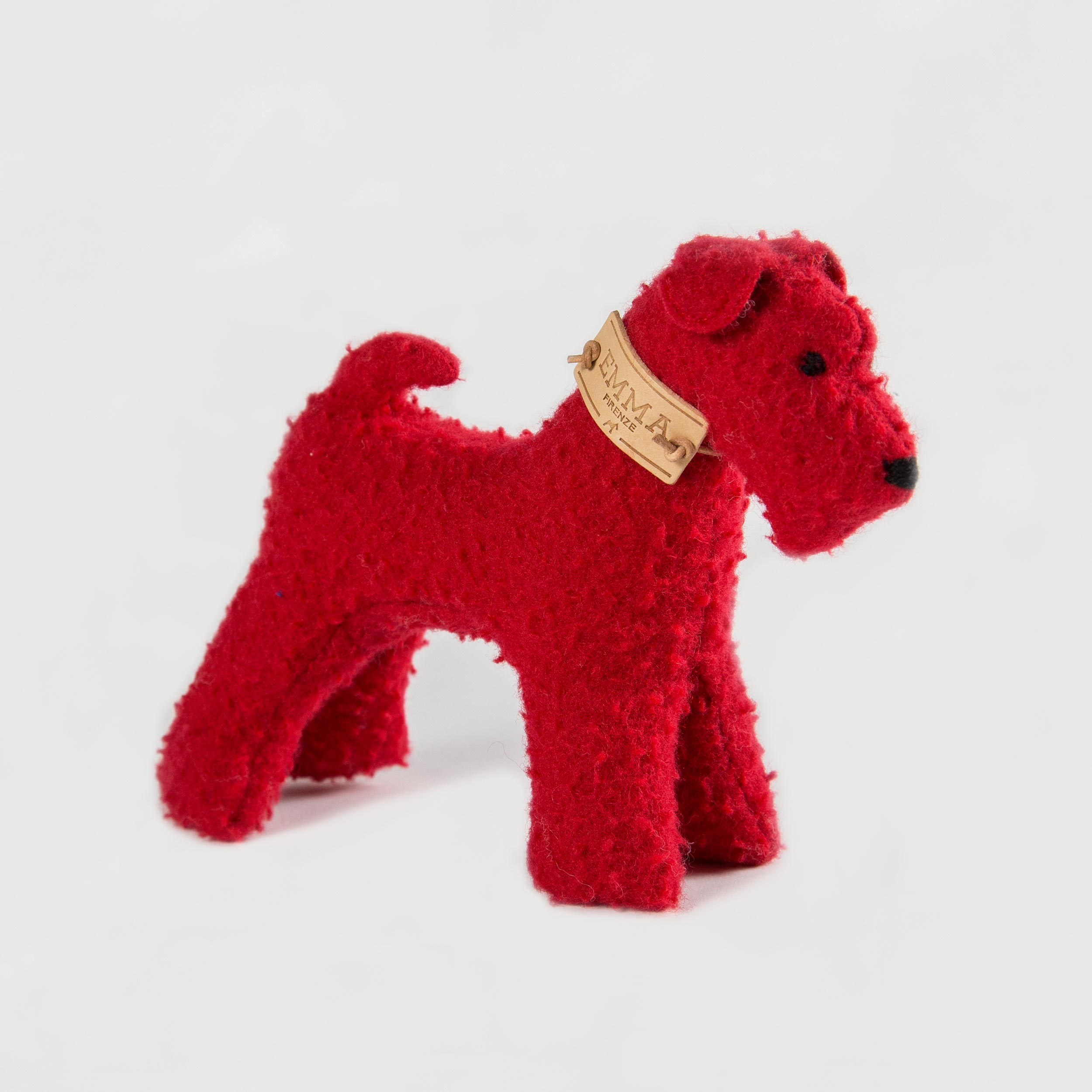 gift toy in red casentino fabric