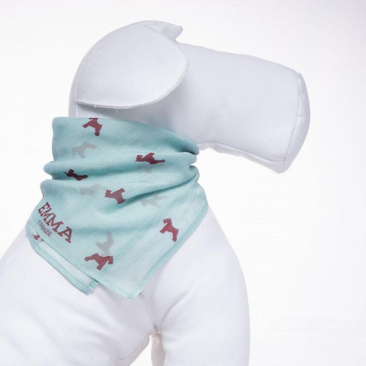 foulard/bandana per cani in cotone e seta fantasia