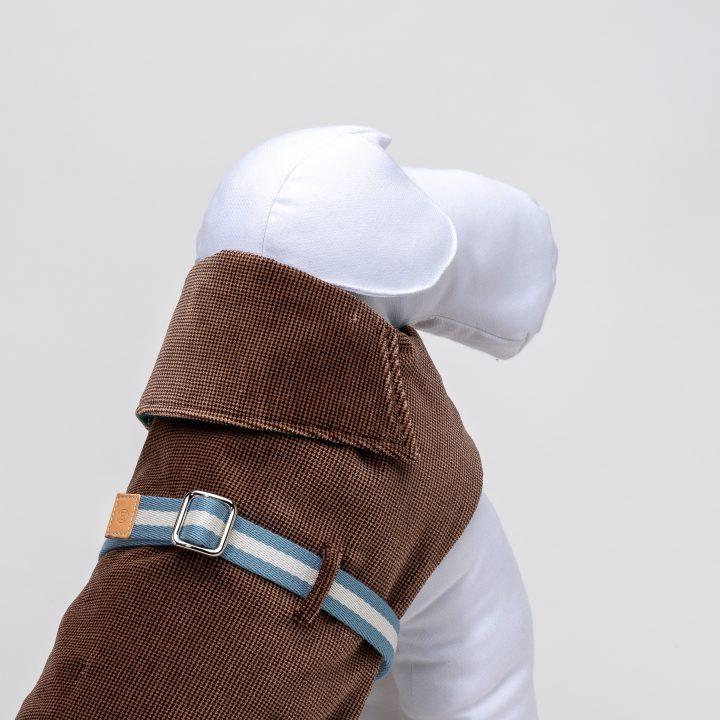 Designer's dog coats and raincoats, detail