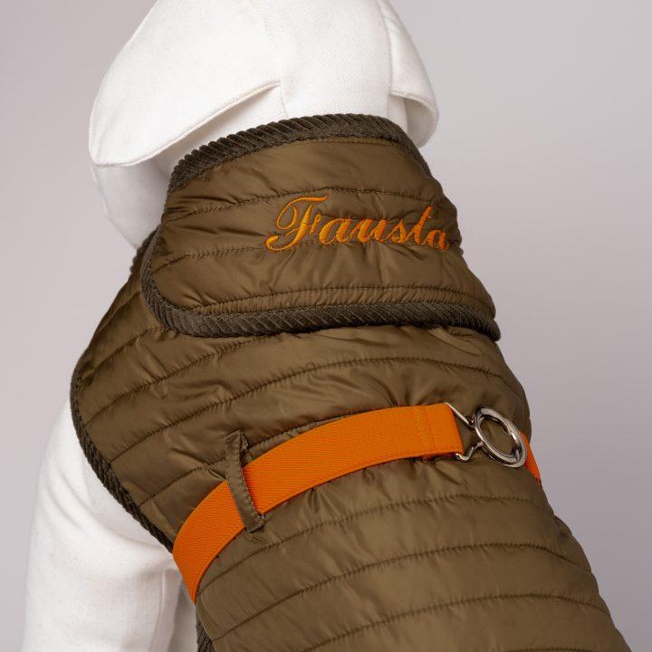 cappottino per cani ricamato con nome personalizzabile