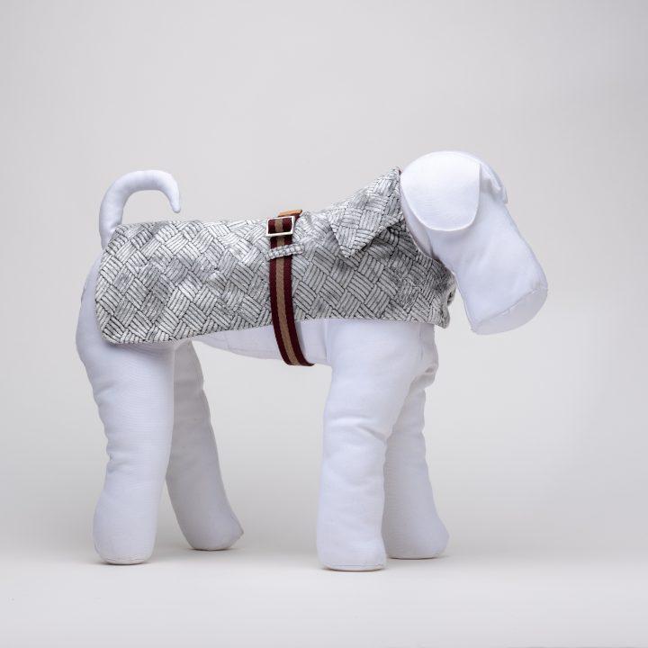 cappottino per cani impermeabile per cani in velluto e cotone impermeabile indossato da manichino