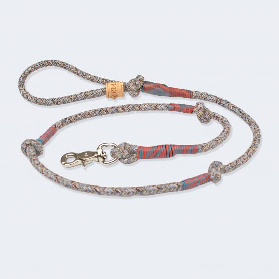 Gentleman Multicolor Leash, guinzaglio per cani fashion, chic ed elegante in materiali riciclati, sostenibile