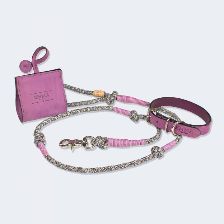 collezione nubuck con guinzaglio multicolor leash realizzato con materiali riciclati
