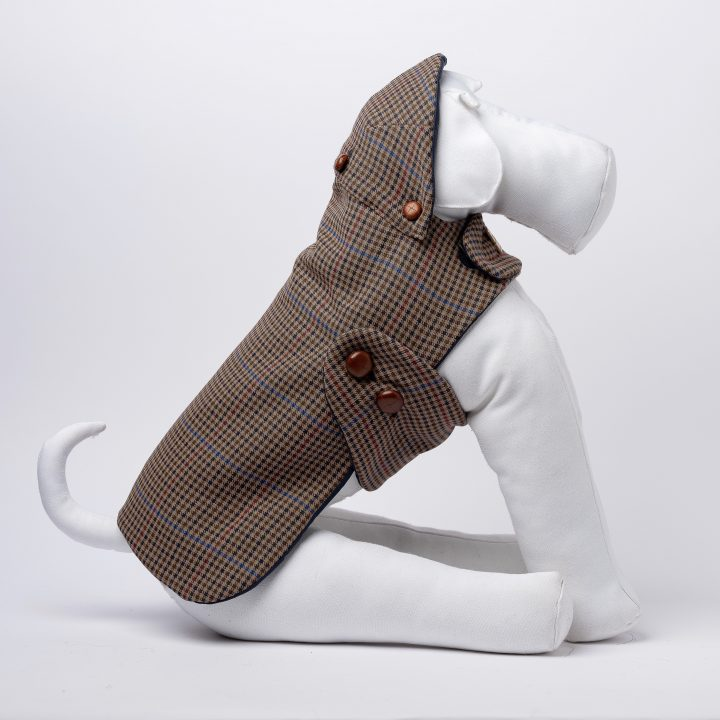 tailored houndstooth waterproof coat for dogs