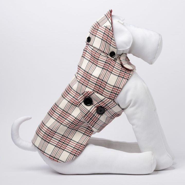cappotto impermeabile per cani double-face su misura fantasia