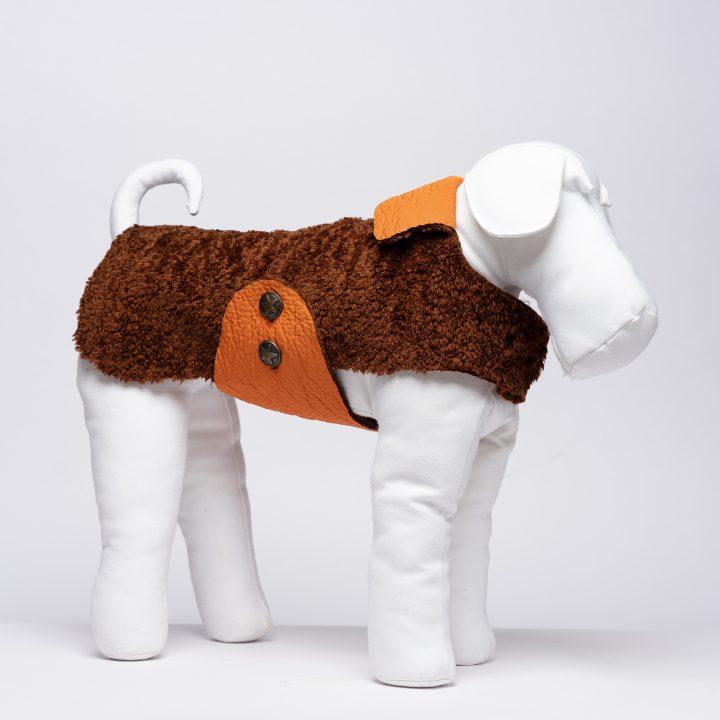 cappotto double-face su misura per cani a taglio vivo
