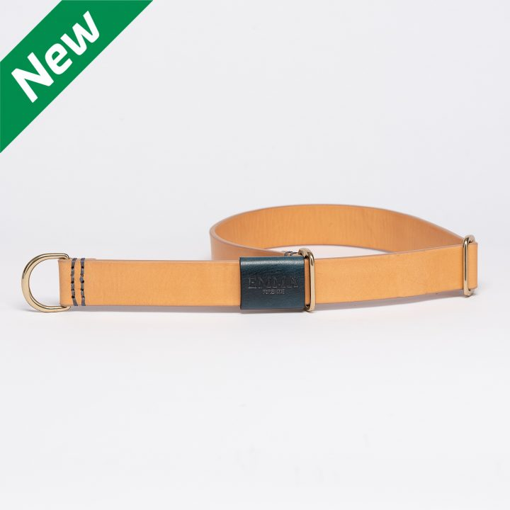 sliding collar for dogs in natural leather