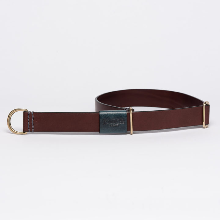 sliding collar for dogs in dark brown leather