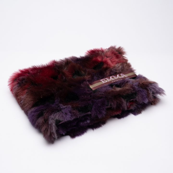dog blanket in eco-friendly fur and cashmere