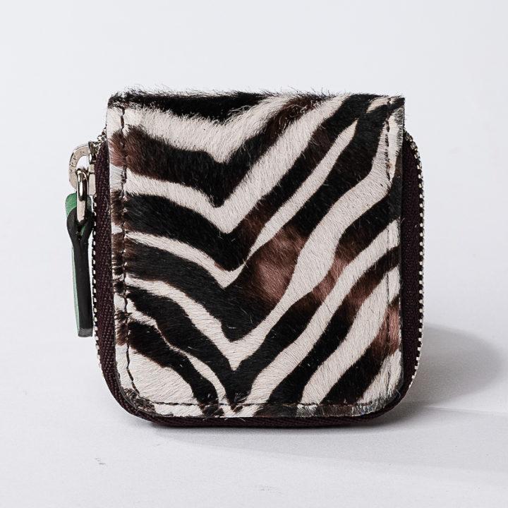 portamonete in cavallino stampato zebra