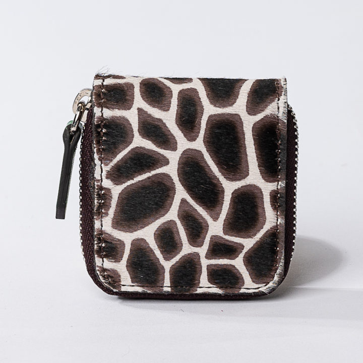giraffe printed cavallino coin purse